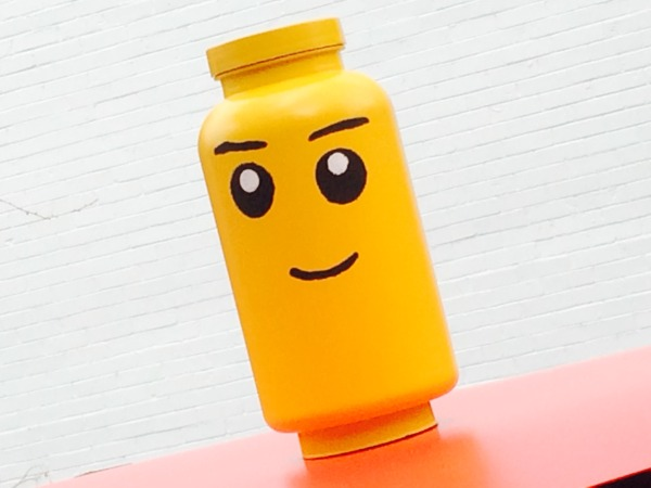 Make a Lego Memory Jar from an Old Vitamin Bottle