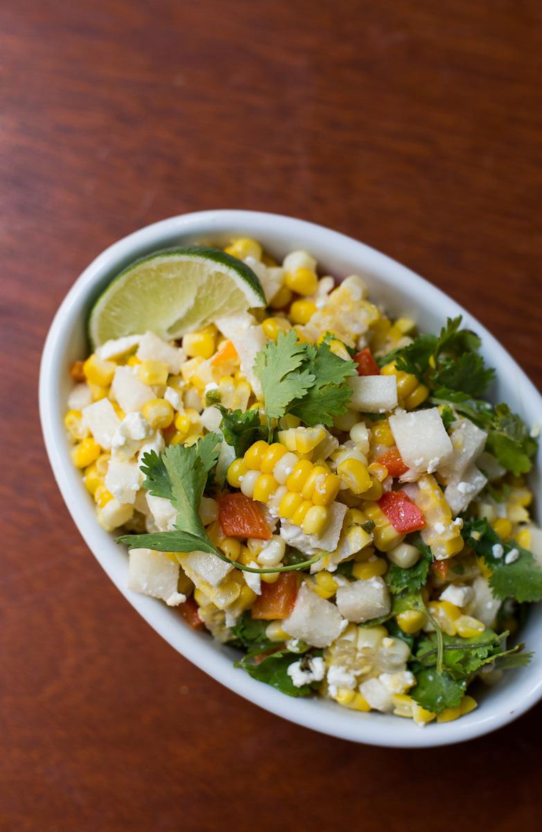 roasted corn cilantro salad