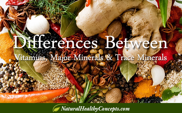 Minerals - Major and Trace