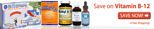 Save on Vitamin b-12 supplements banner ad
